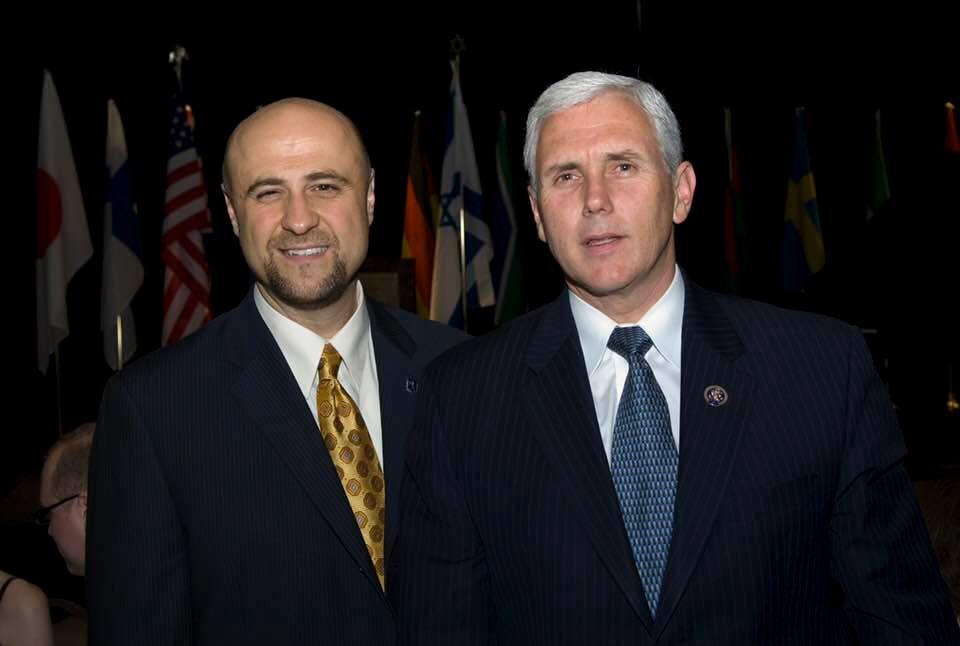 Robert and U.S. Vice President Mike Pence