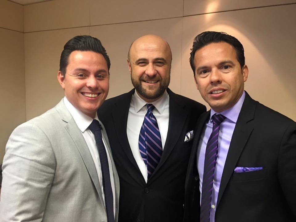 Robert with Pastors Juan Rivera and Samuel Rodriguez