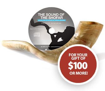 Sound of the Shofar teaching CD and an Authentic Ram's Horn Shofar